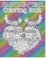 Happy New Year Coloring Book af Leona