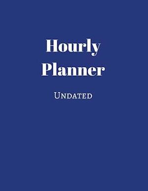 Bog, paperback Undated Hourly Planner (Blue) af Notandum Publishing