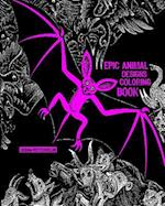 Epic Animal Designs Adult Coloring Book