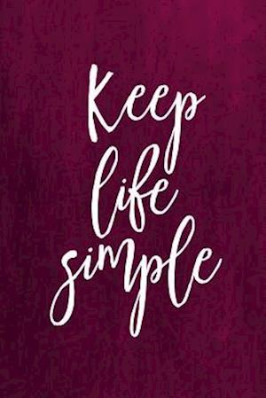 Chalkboard Journal - Keep Life Simple (Pink)