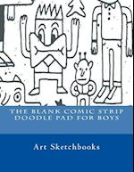 The Blank Comic Strip Doodle Pad for Boys af Art Journaling Sketchbooks
