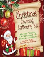 Christmas Coloring Stationary Kit