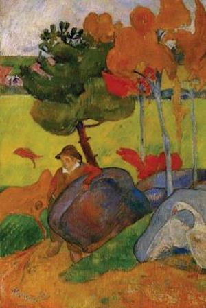"""Breton Boy in a Landscape with Goose"" by Paul Gauguin - 1889"