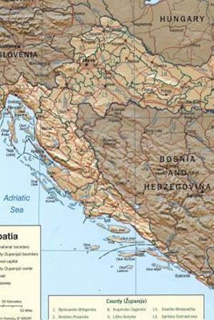 Bog, paperback A Map of Croatia af Unique Journal