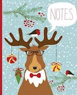 Christmas Notebook, Lined Journal/Notes Christmas, Holiday Notebook