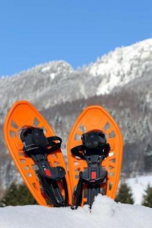 Bog, paperback Modern Orange Colored Snowshoes Winter Sports Journal af Cs Creations
