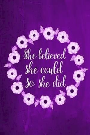 Bog, paperback Chalkboard Journal - She Believed She Could So She Did (Purple) af Marissa Kent