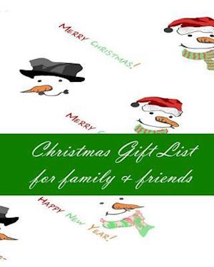 Bog, paperback Christmas Gift List for Family & Friends af Anthea Peries
