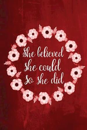 Bog, paperback Chalkboard Journal - She Believed She Could So She Did (Red) af Marissa Kent