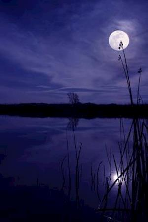 Bog, paperback Night at the Pond with the Moon and Reeds Journal af Cool Image