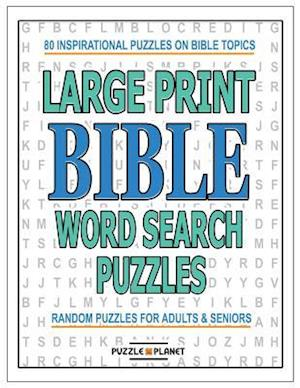 Bog, paperback Large Print Bible Word Search Puzzles af Puzzle Planet