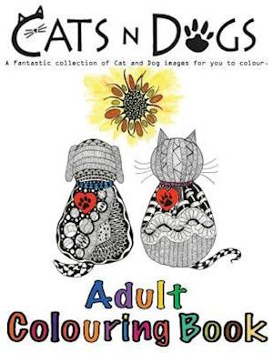 Bog, paperback Cats and Dogs Adult Colouring Book af M. McCulley