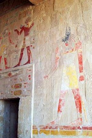 Bog, paperback Anubis Fresco at Temple of Hatshepsut in Luxor Egypt Journal af Cool Image
