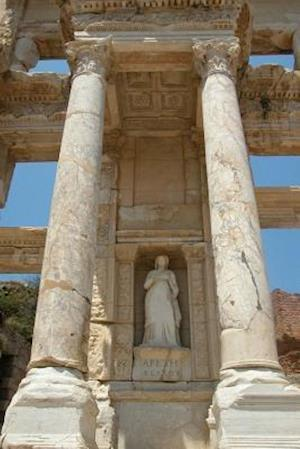 Bog, paperback Statue of Arete at Celsus Library in Ephesus Turkey Journal af Cool Image