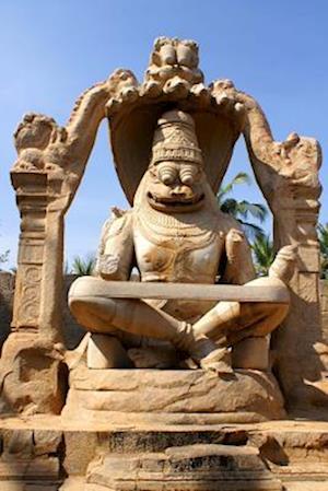 Bog, paperback Statue of Lakshmi Narasimha Lord Vishnu Hampi India Journal af Cool Image