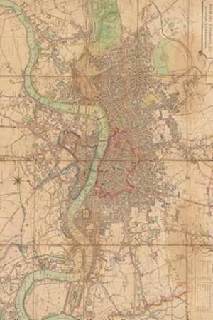 Bog, paperback A Vintage Map of London, England 1813 af Unique Journal