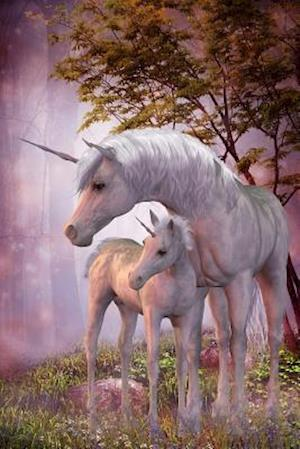 Bog, paperback Sweet Mama and Baby White Unicorns Journal af Cs Creations
