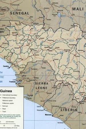 Bog, paperback A Map of the African Nation Guinea af Unique Journal