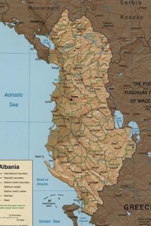 Bog, paperback A Map of the Nation Albania af Unique Journal