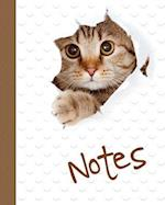 Cat Notebook, Notes, Jotter, Notebook, Lined Pages