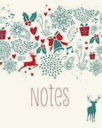 Stag Notebook, Christmas Notes, 100 Page Holiday Notebook / Journal Jotter