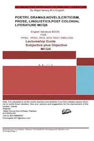 A Superb Book of English Literature Subjective Plus Objective