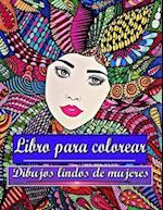 Libro Para Colorear Dibujos Lindos de Mujeres