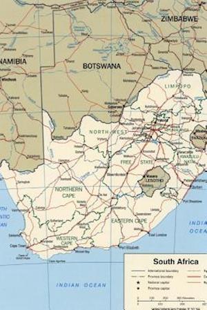 Bog, paperback A Map of South Africa af Unique Journal