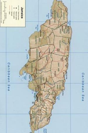 Bog, paperback A Map of the Island Nation Jamaica af Unique Journal