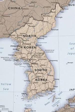 Bog, paperback A Map of the Korean Peninsula North and South Korea af Unique Journal
