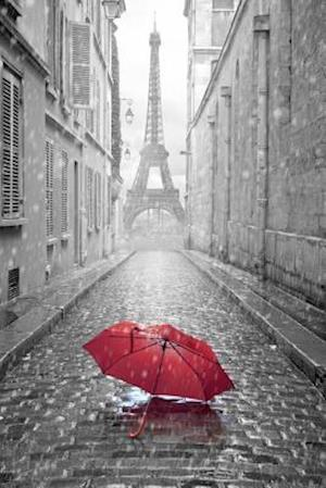 Bog, paperback A Red Umbrella and the Eiffel Tower Paris France Journal af Cs Creations