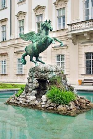 Bog, paperback Pegasus Sculpture in Mirabell Gardens Salzburg Austria Journal af Cs Creations