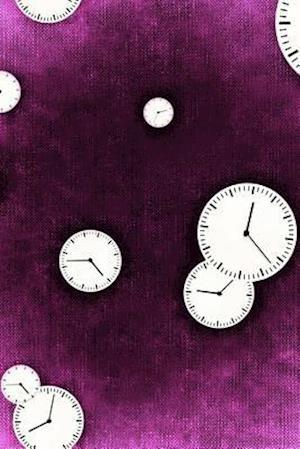 Bog, paperback Cool Clock Faces on Purple af Unique Journal