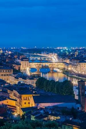 Bog, paperback Night View Including the Ponte Vecchio (Old Bridge) in Florence Italy Journal af Cs Creations