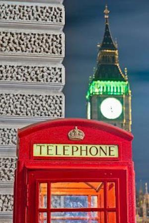 Bog, paperback Red Telephone Box and Big Ben in London England Journal af Cs Creations