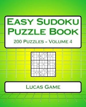 Easy Sudoku Puzzle Book Volume 4