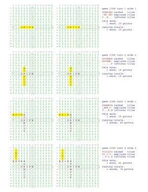 Fifty Scrabble Box Scores Games 2151-2200