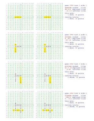 Fifty Scrabble Box Scores Games 2951-3000