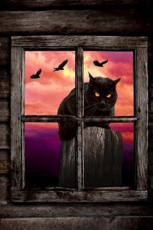 Bog, paperback Black Cat Outside the Window Halloween Illustration Journal af Cs Creations