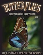 Everything Is Everything Butterflies Vol. 1 Grayscale Coloring Book af Everything Is Everything