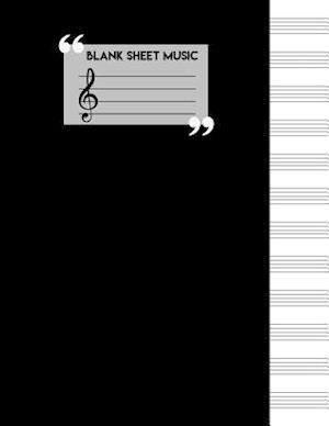 Bog, paperback Blank Sheet Music Notebook af Me Journal