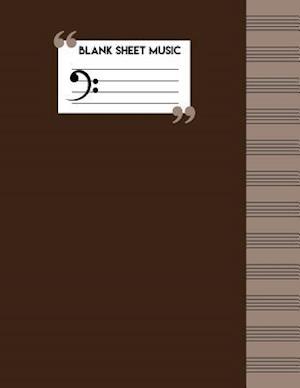 Bog, paperback Blank Music Sheets af Me Journal