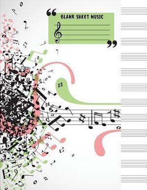 Bog, paperback Blank Sheet Music af Me Journal