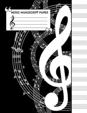 Bog, paperback Music Manuscript Notebook af Me Journal
