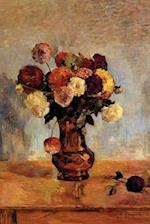 Dahlias in a Copper Vase by Paul Gauguin - 1885