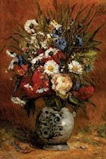 Daisies and Peonies in Blue Vase by Paul Gauguin - 1876