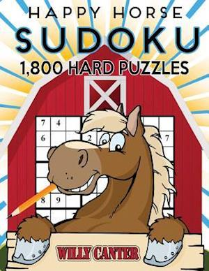 Bog, paperback Happy Horse Sudoku 1,800 Hard Puzzles af Willy Canter