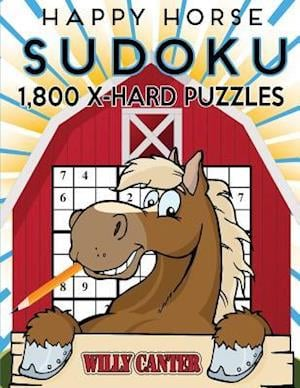 Bog, paperback Happy Horse Sudoku 1,800 X-Hard Puzzles af Willy Canter