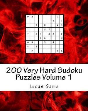 Bog, paperback 200 Very Hard Sudoku Puzzles Volume 1 af Lucas Game