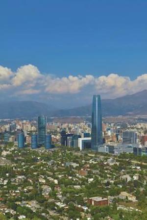 Bog, paperback Santiago Chile Skyline Journal af Cool Image
